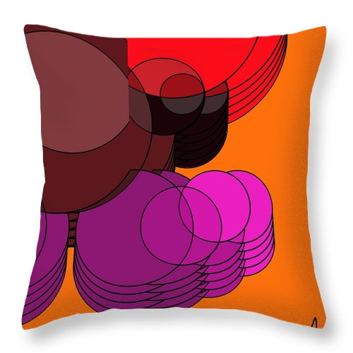 Abstract Throw Pillow featuring the digital art Air by Yilmar Henry