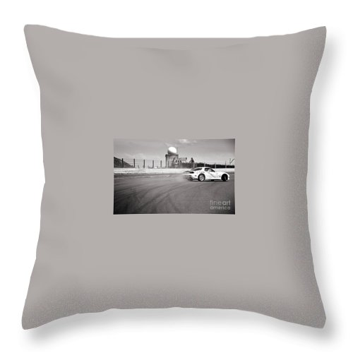 Car Throw Pillow featuring the photograph Airfield Drifting by Andy Smy