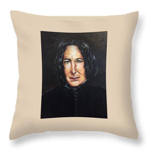 Alan Rckman Portrait Throw Pillow For Sale By Maria Mei