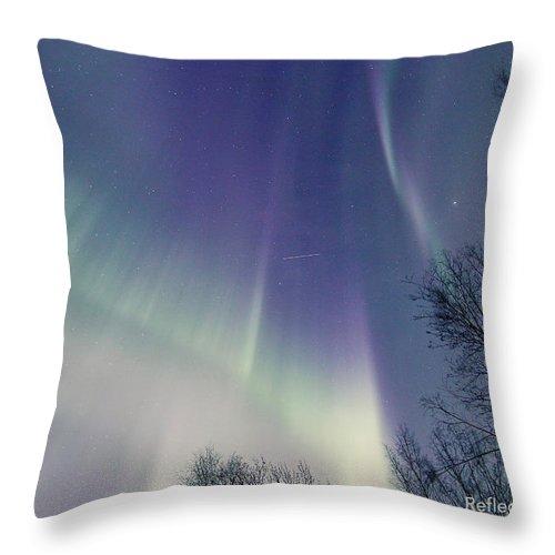 Alaska Throw Pillow featuring the photograph Alaska Aurora Borealis by Dawn Stepp
