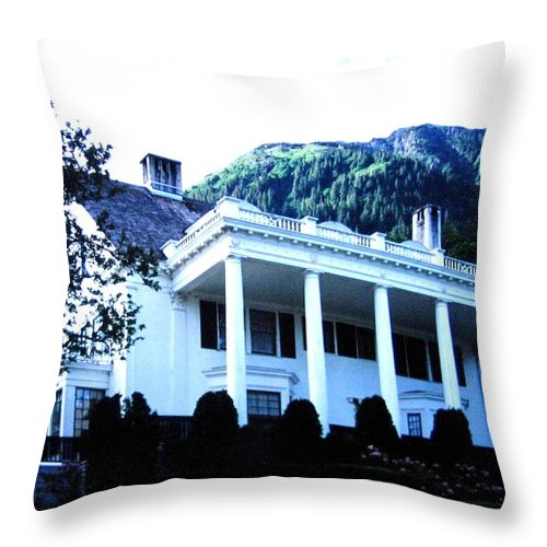 Alaska Throw Pillow featuring the photograph Alaska Governors Mansion by Will Borden