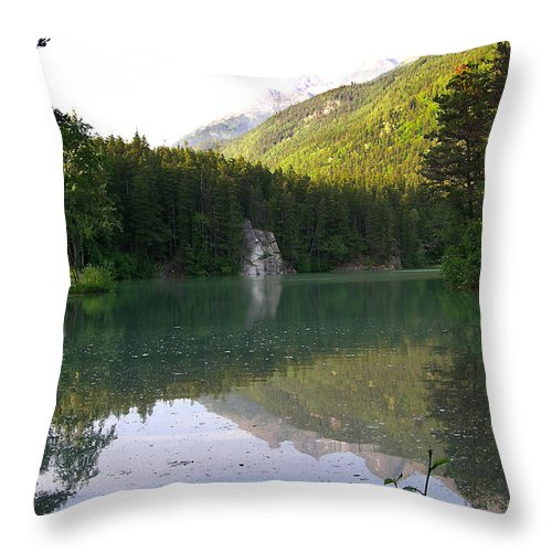 Alaska Throw Pillow featuring the photograph Alaskan Lake by Douglas Barnett