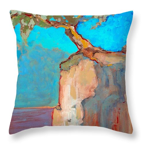 Tree Throw Pillow featuring the painting Albero by Kurt Hausmann