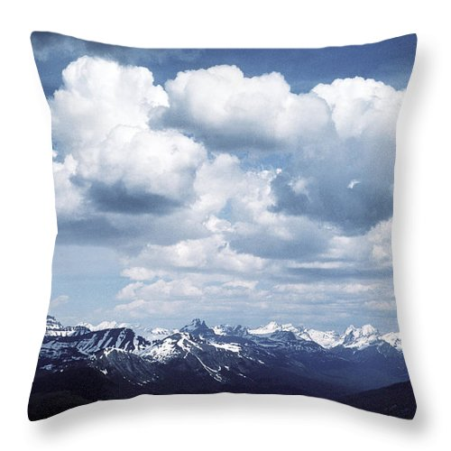 Rocky Mountains Throw Pillow featuring the photograph Alberta Mountain Panorama by Steve Somerville
