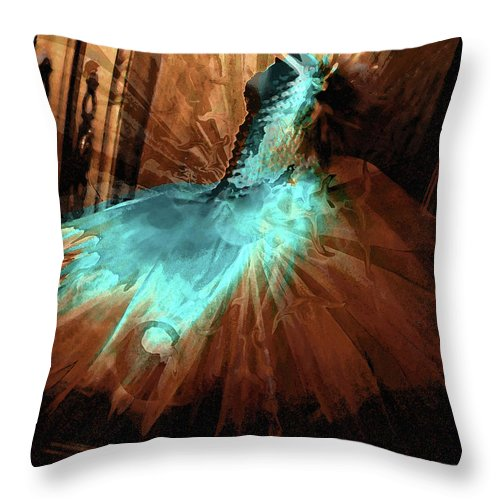 Alessandradress Throw Pillow featuring the photograph Alessandra's Dress by Molly McPherson