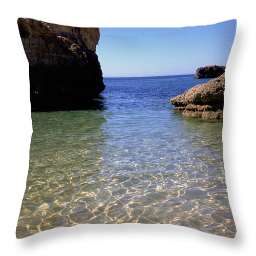 Algarve Throw Pillow featuring the photograph Algarve I by Flavia Westerwelle