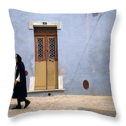 Algarve Throw Pillow featuring the photograph Algarve II by Flavia Westerwelle