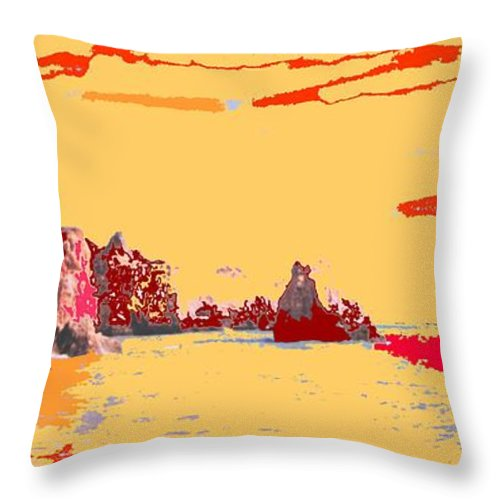 Mediterranean Throw Pillow featuring the photograph Algarve Sunrise by Ian MacDonald