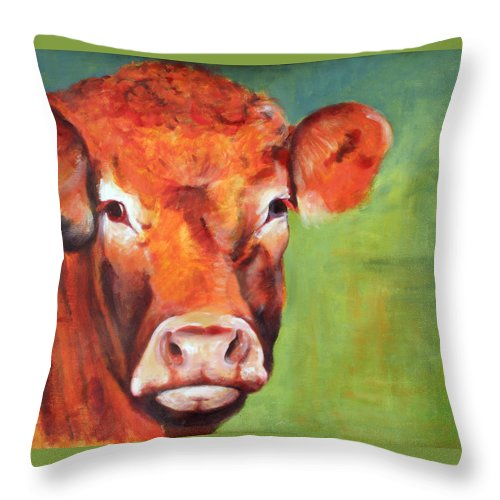 Limousine Throw Pillow featuring the painting Alice by Fiona Jack