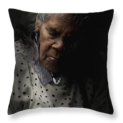 Portrait Throw Pillow featuring the photograph Alice by Sheila Smart Fine Art Photography