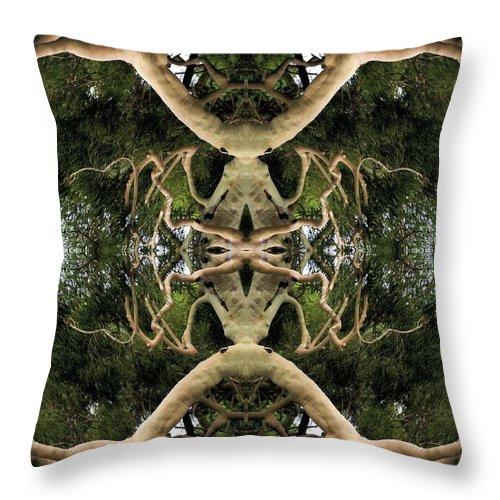 Surreal Throw Pillow featuring the photograph Alien Birth by Rachel Dunn