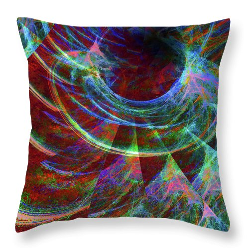 Digital Throw Pillow featuring the digital art Alien Force by Michael Durst