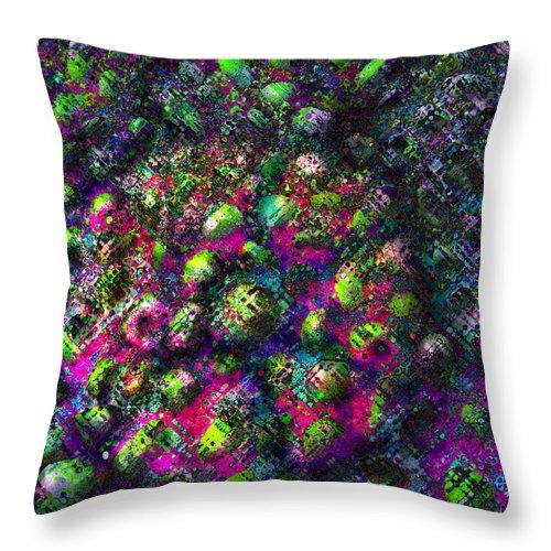 Alien Throw Pillow featuring the digital art Alien Jewellery by Alexandra Cook