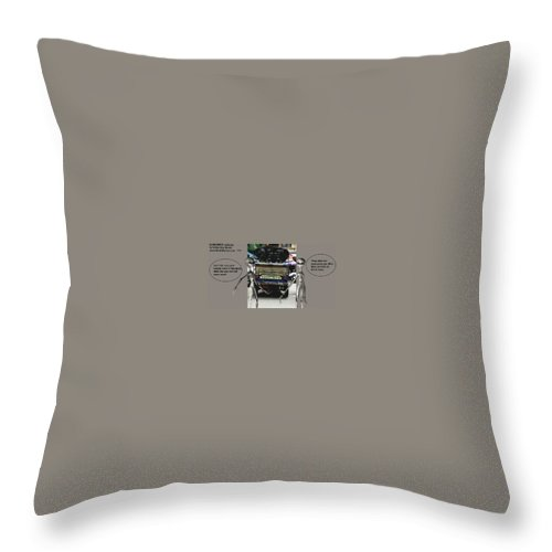 Comics Alien Throw Pillow featuring the mixed media Alien Nutz 1 by Robert aka Bobby Ray Howle