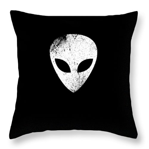 Abduct Throw Pillow featuring the digital art Alien Ufo Science Gift by Michael S