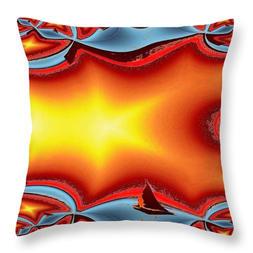 Sail Throw Pillow featuring the photograph Alki Sail Under The Sun by Tim Allen