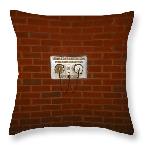 Photograph Throw Pillow featuring the photograph All Alone Pump Test by Thomas Valentine