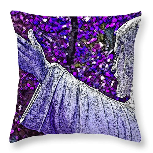 Religion Throw Pillow featuring the photograph All Are Welcome by Donna Shahan
