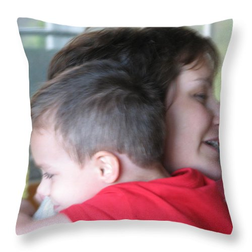 Mom Throw Pillow featuring the photograph All Better by Kelly Mezzapelle