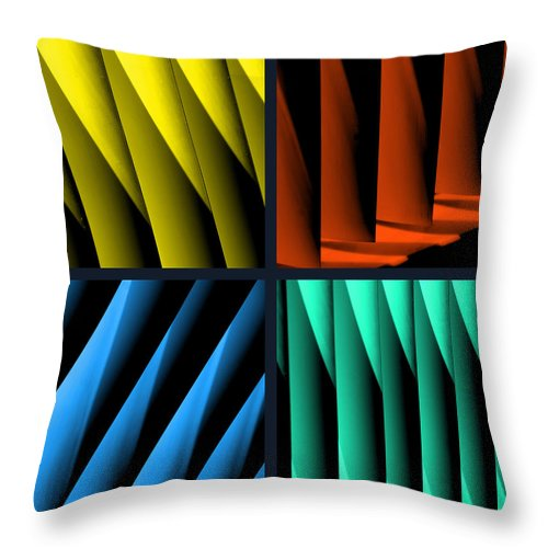 Quadruple Throw Pillow featuring the photograph All For One by Susanne Van Hulst
