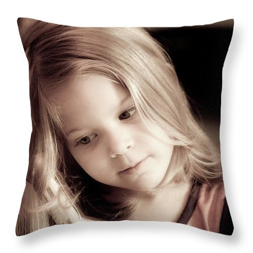 Hair Throw Pillow featuring the photograph All Grown Up by Trish Tritz
