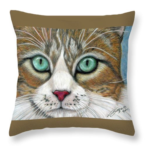 Pet Portraits Throw Pillow featuring the drawing All I Want For Christmas Is A Home by Beverly Fuqua