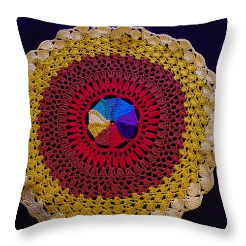 Crochet Throw Pillow featuring the photograph All My Life's A Circle by Robyn Greaves
