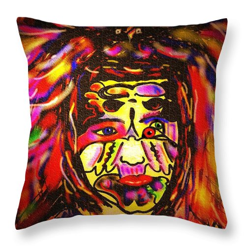 Man Throw Pillow featuring the painting All Seeing Eye by Natalie Holland