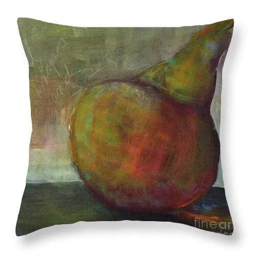 Pair Throw Pillow featuring the painting All Shapes And Sizes by Gail Butters Cohen