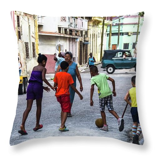 Cuba Throw Pillow featuring the photograph All The Colors Of The Rainbow by Rand