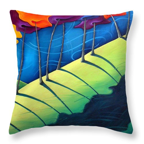 Landscape Throw Pillow featuring the painting All The Same In The End by Richard Hoedl