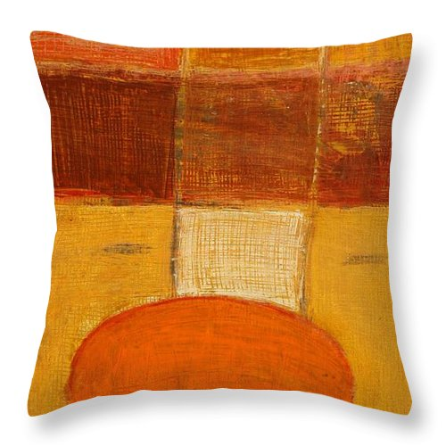 Abstract Throw Pillow featuring the painting All The Way by Habib Ayat