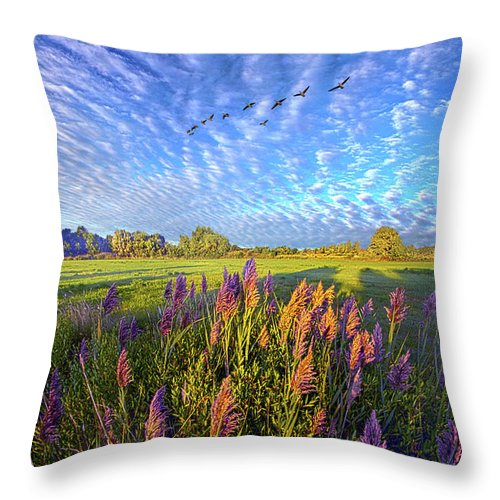 Clouds Throw Pillow featuring the photograph All Things Created And Held Together by Phil Koch