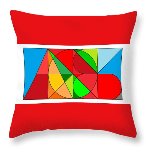 Throw Pillow featuring the digital art All Won System by Kenneth A Post