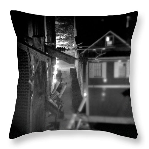 Alley Throw Pillow featuring the photograph Alley to High by Jean Macaluso