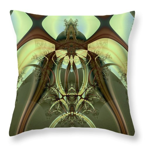 Abstract Throw Pillow featuring the digital art Allien Portal by Frederic Durville