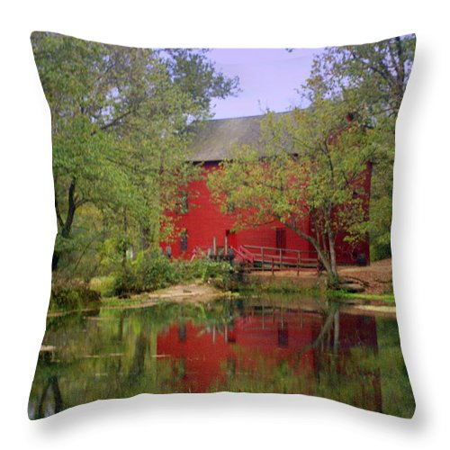 Alley Spring Throw Pillow featuring the photograph Allsy Sprng Mill 2 by Marty Koch