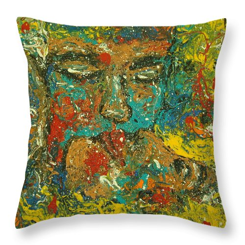 Romantic Throw Pillow featuring the painting Allure Of Love by Natalie Holland
