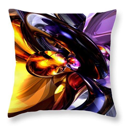 3d Throw Pillow featuring the digital art Alluring Grace Abstract by Alexander Butler