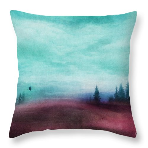 Red Throw Pillow featuring the photograph Almost There by Priska Wettstein