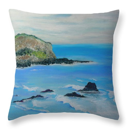 Hawaii Throw Pillow featuring the painting Aloha by Melinda Etzold