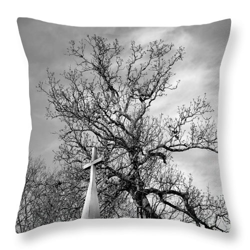 Alone Throw Pillow featuring the photograph Alone by Amanda Barcon