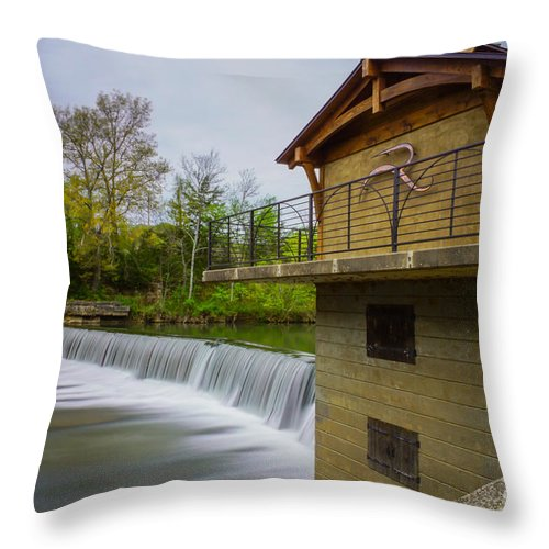America Throw Pillow featuring the photograph Along The Finley by Jennifer White