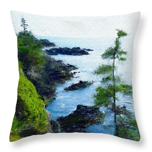 Digital Photograph Throw Pillow featuring the photograph Along The West Coast 1 by David Lane
