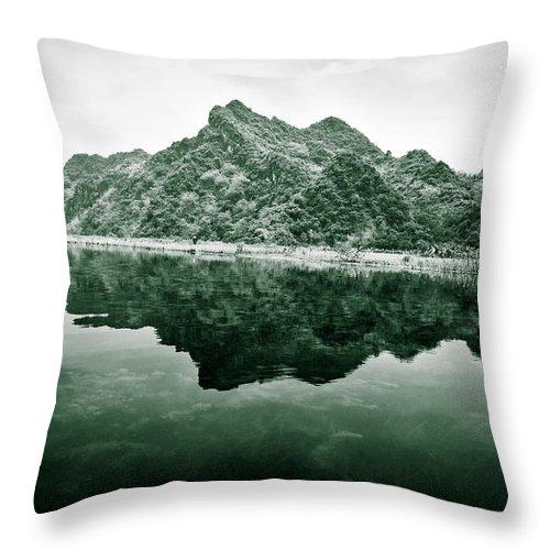 Yen Throw Pillow featuring the photograph Along The Yen River by Dave Bowman