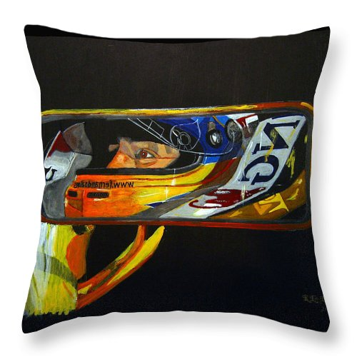 Alonso Throw Pillow featuring the painting Alonso by Richard Le Page