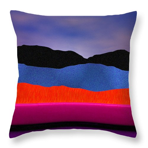 Abstract Throw Pillow featuring the photograph Alpenglow by Paul Wear
