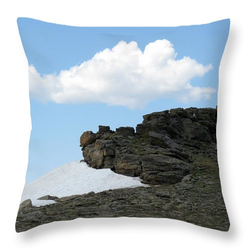 Rocky Mountains Throw Pillow featuring the photograph Alpine Tundra - Up In The Clouds by Amanda Barcon