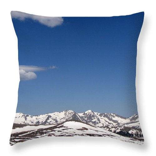 Mountains Throw Pillow featuring the photograph Alpine Tundra Series by Amanda Barcon