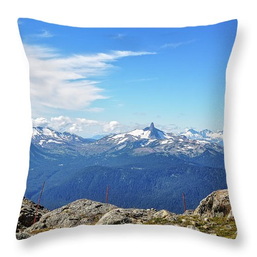 Canada Throw Pillow featuring the photograph Alpine View In Canada by Daniela Constantinescu
